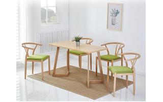 钢木餐桌椅快餐店桌椅中式餐厅桌椅咖啡店桌椅四人分体快餐桌椅ft4-151